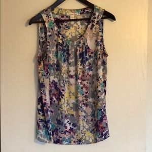 Cold water Creek floral tank top